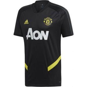 adidas MUFC TR JSY černá M - Pánský fotbalový dres