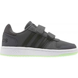 adidas HOOPS 2.0 CMF C šedá 33 - Dětská volnočasová obuv