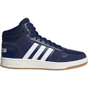 adidas HOOPS 2.0 MID modrá 10.5 - Pánská volnočasová obuv