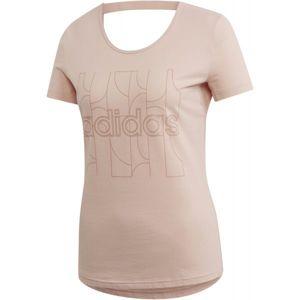 adidas MOTION T-SHIRT růžová S - Dámské tričko