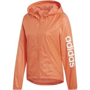 adidas ESSENTIALS LINEAR WINDBREAKER oranžová XS - Dámská sportovní bunda