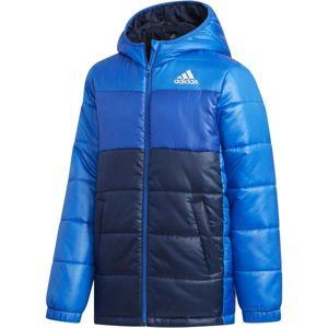 adidas YK J SYNTHETIC modrá 128 - Juniorská zimní bunda