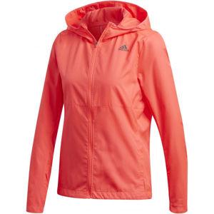 adidas OWN THE RUN JACKET růžová S - Dámská bunda