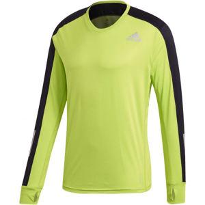 adidas OTR LS TEE zelená M - Pánské sportovní tričko