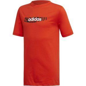 adidas YB E GRAPH TEE oranžová 164 - Chlapecké tričko