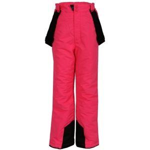 ALPINE PRO FUDO růžová 128-134 - Dětské kalhoty