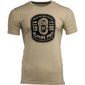 ALPINE PRO GRAW 2 béžová L - Pánské triko