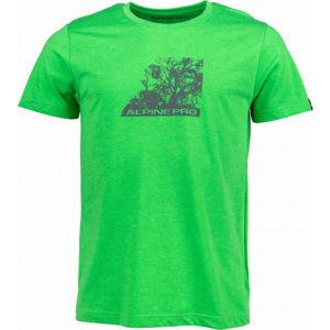 ALPINE PRO MACALL zelená M - Pánské triko