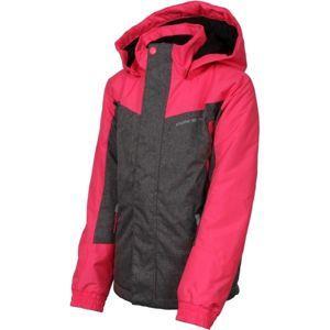ALPINE PRO PREO 2 šedá 140-146 - Dětská zimní bunda