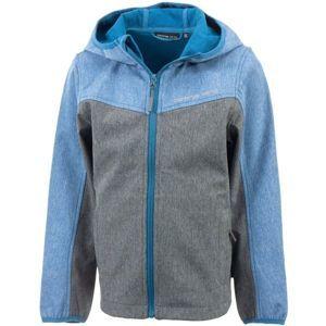ALPINE PRO YURIKO modrá 116-122 - Dětská softshellová bunda