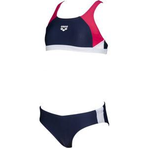 Arena G REN TWO PIECES tmavě modrá 10-11 - Dívčí dvoudílné plavky