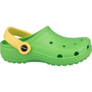 Aress ZABKI zelená 32 - Dětské pantofle