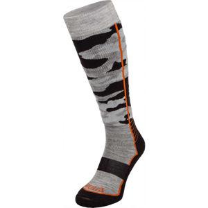 Bula CAMO SKI SOCKS šedá L - Lyžařské ponožky