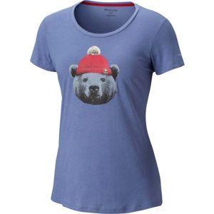 Columbia UNBEARABLE TEE modrá M - Dámské tričko