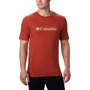 Columbia BASIC LOGO SHORT SLEEVE červená XL - Pánské triko