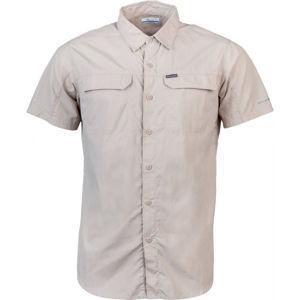 Columbia SILVER RIDGE 2.0 SHORT SLEEVE SHIRT béžová S - Pánská košile