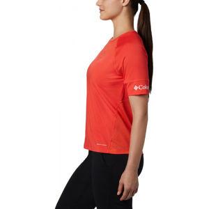 Columbia WINDGATES SS TEE červená L - Dámské sportovní triko