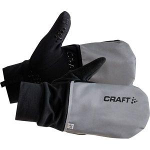 Craft HYBRID WEATHER černá S - Kombinované cyklistické rukavice