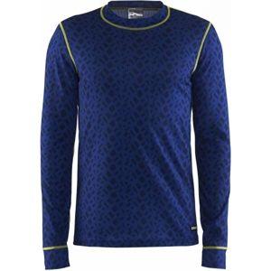 Craft MIX A MATCH LS M modrá S - Pánské funkční triko