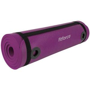 Fitforce YOGA MAT 180X61X1 fialová NS - Podložka na cvičení s oky