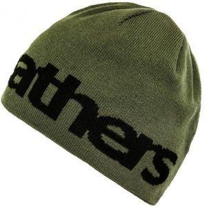 Horsefeathers FUSE BEANIE tmavě zelená UNI - Oboustranná pánská zimní čepice
