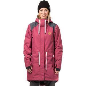 Horsefeathers POPPY JACKET růžová S - Dámská lyžařská/snowboardová bunda
