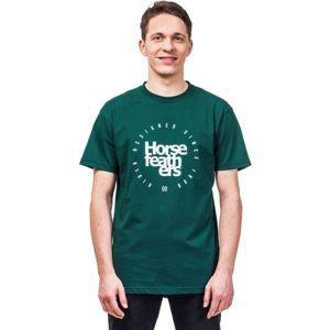 Horsefeathers DENK T-SHIRT tmavě zelená M - Pánské tričko