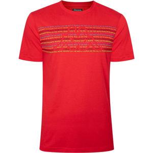 Kappa LOGO BOPER červená S - Pánské triko