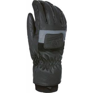 Level EMPIRE černá M - Pánské celokožené rukavice