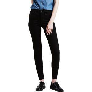 Levi's SHAPING SUPER SKINNY BLACK GALAXY černá 29/30 - Dámské kalhoty