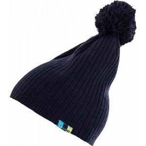 Lewro BAM modrá 12-15 - Dětská pletená čepice