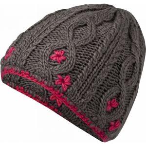Lewro CARBINK šedá 4-7 - Dívčí pletená čepice