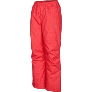 Lewro ELISS růžová 128-134 - Dětské zateplené kalhoty