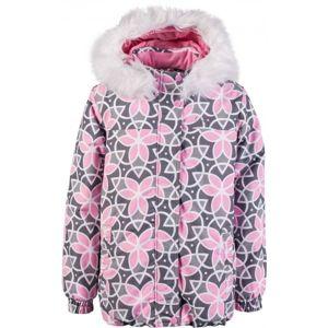 Lewro PAMILA šedá 140-146 - Dívčí zimní bunda