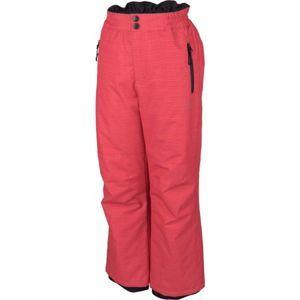 Lewro NUR růžová 152-158 - Dětské lyžařské kalhoty