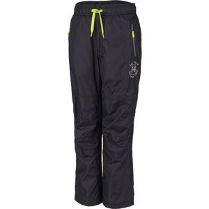 Lewro TIMOTEO černá 128-134 - Dětské zateplené kalhoty