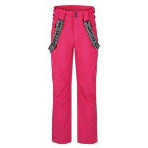 Loap LIMKALA růžová XL - Dámské zimní softshellové kalhoty