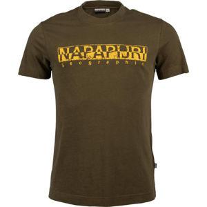 Napapijri SOLANOS tmavě zelená M - Pánské tričko