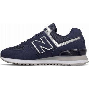 New Balance WL574EY tmavě modrá 5.5 - Dámská volnočasová obuv