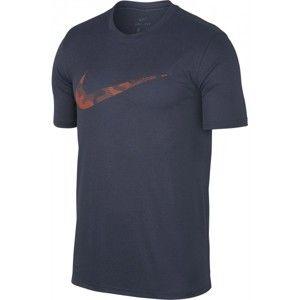 Nike DRY TEE LEG CAMO LOGO M - Pánské tréninkové tričko