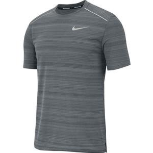 Nike DRY MILER TOP SS M šedá 2XL - Pánské běžecké tričko