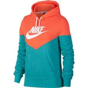 Nike NSW HRTG HOODIE FLC oranžová L - Dámská mikina