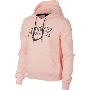Nike NSW HOODIE VRSTY světle růžová S - Dámská mikina