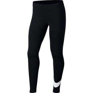 Nike NSW FAVORITES SWSH černá M - Dívčí legíny