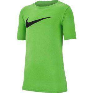 Nike DRY TEE LEG SWOOSH zelená XL - Chlapecké sportovní triko