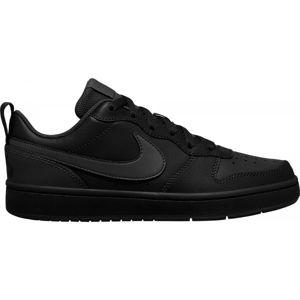 Nike COURT BOROUGH LOW 2 GS černá 5.5Y - Dětská volnočasová obuv