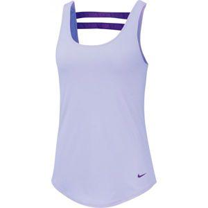 Nike DRY TNK SSNL ESSNTL ELSTK fialová L - Dámské tílko