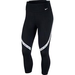Nike ONE TGHT CROP NVLTY W černá L - Dámské legíny