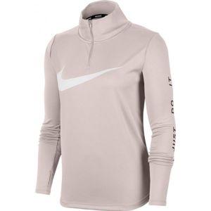 Nike MIDLAYER QZ SWSH RUN W růžová M - Dámský běžecký top