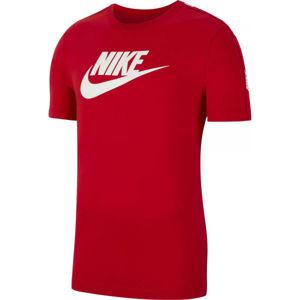 Nike NSW HYBRID SS TEE M červená M - Pánské tričko